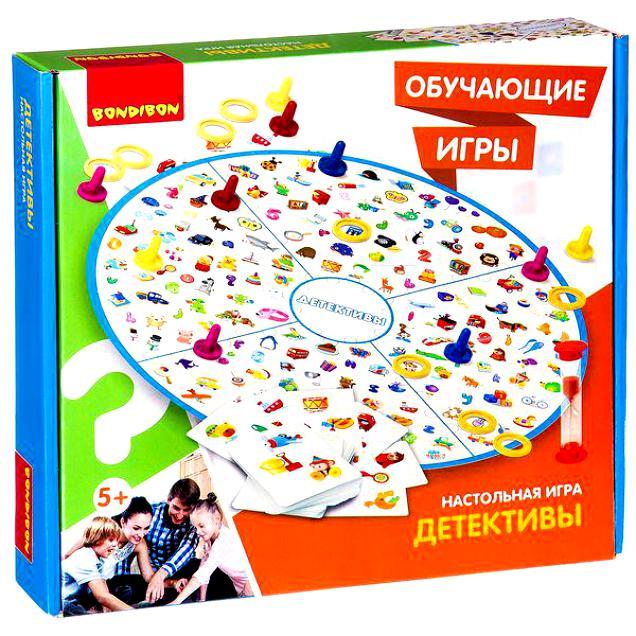 BONDIBON ВВ2409 Наст. игра «Детективы» - Игра на тренировку памяти, способствует концентрации внимания и развитию зрительного восприятия.  Также укрепляет социальное развитие. Игра на внимательность, сообразительность и скорость. Для младших детей данная игра является интересным способом изучени