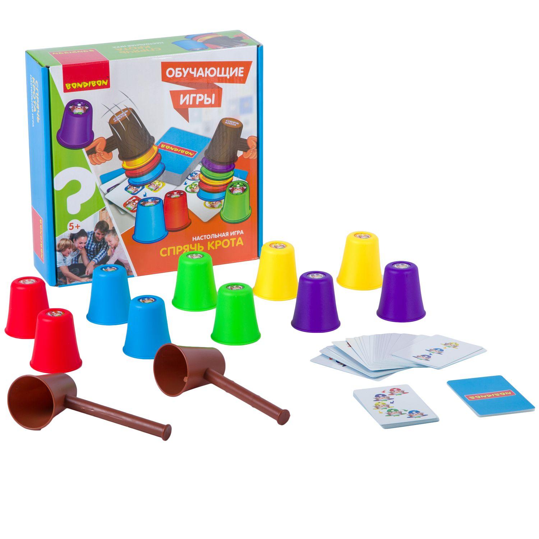 BONDIBON ВВ2420 Наст. игра «Спрячь крота» - Игра на ловкость рук и остроту глаза. Способствует развитию зрительно-моторной координации движений, концентрации внимания и зрительного восприятия. Проведите веселое время с пользой в кругу семьи и друзей. Соберите колпачки как можно быстрее в порядке ук