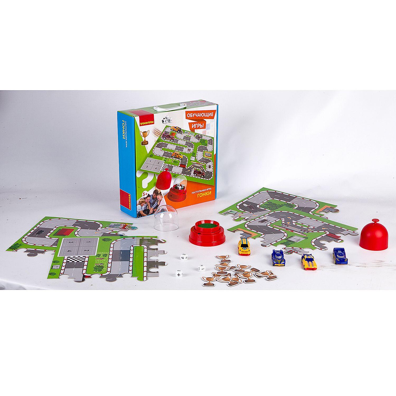 BONDIBON ВВ2421 Наст. игра «Гонки» - Игра помогает развитию произвольности, игровой деятельности, умению играть по правилам и выполнять инструкции, тренирует внимание и развивает пространственное мышление. Также заставит вспомнить азы арифметики в игре. Веселое и полезное времяпровождение дл