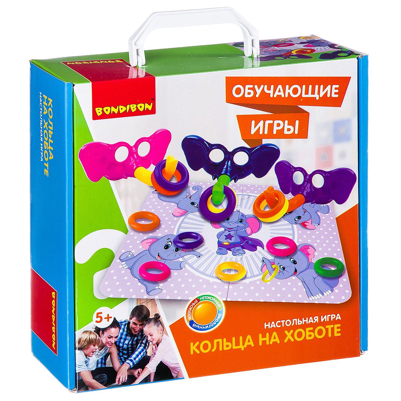 BONDIBON ВВ2423 Наст. игра «Кольца на хоботе» - Игра на ловкость. Помогает развитию произвольности, игровой деятельности. Тренирует пространственное мышление и координацию, а также способствует эмоциональному развитию. Яркое и полезное развлечение для детей и всей семьи. По правилам игры необходимо соб
