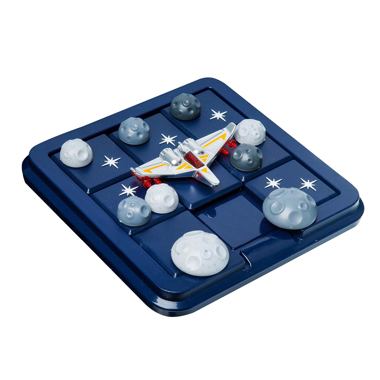 BONDIBON Логическая игра Астероиды в пролёте - Почувствуй себя капитаном звездолета! Основная задача не дать астероидам сбить твой корабль. Примени логическое мышление, навыки планирования и гибкость мышления, чтобы, передвигая детали в соответствии с одним из выбранных заданий, провести свой корабль