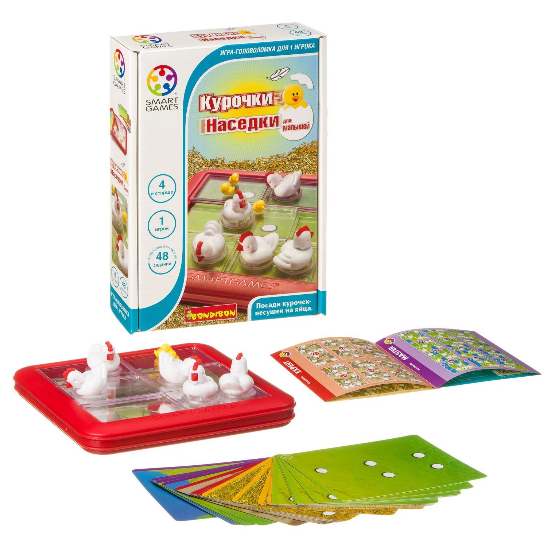 BONDIBON Логическая игра Курочки-Наседки для малышей - «Курочки-наседки» – это игра-головоломка со скользящими по игровому полю деталями. Вы должны перемещать детали головоломки по кругу до тех пор, пока все яйца не окажутся под курочками-наседками! Эта версия «для малышей» содержит 48 заданий разных уровней