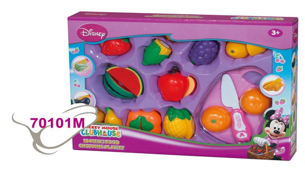 Disney. Набор с рез. овощами и фруктами 10 предм -