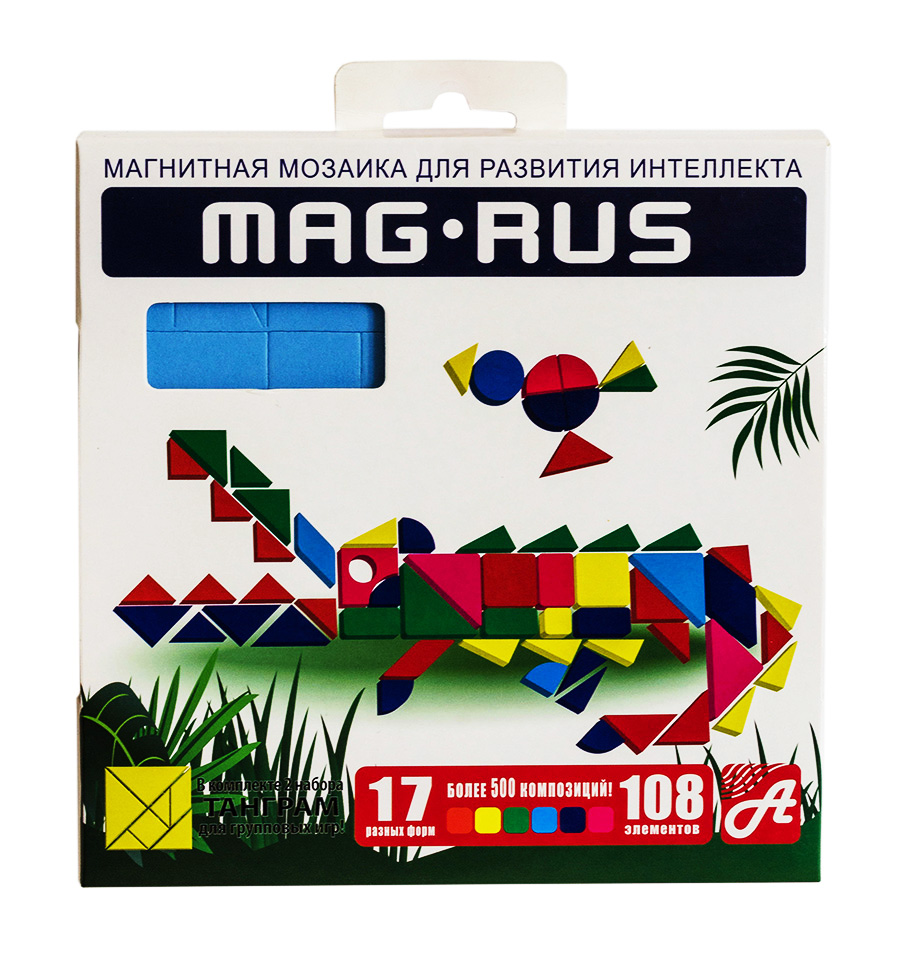 MAG-RUS. Магнитная мозаика арт. 96А 108 эл.