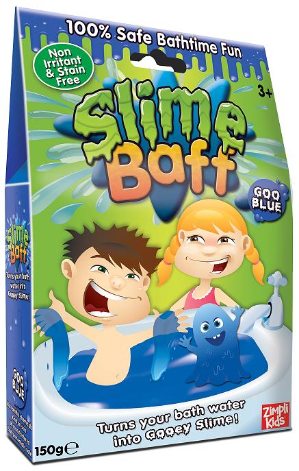 Slime Baff Слизь синяя - Smile Baff - порошок, превращающий воду в слизь.