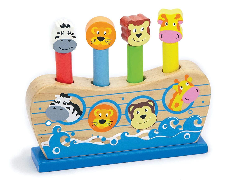 VIGA. 50041 Веселый ковчег в коробке - Игра Веселый ковчег развивает моторику рук и координацию движений.  Размер игрушки: 14х14х4 см