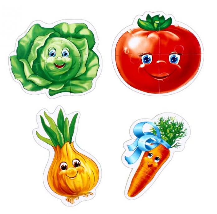 VladiToys. Мягкие беби пазлы. VT1106-03 Овощи - размер картинки: 14х10см