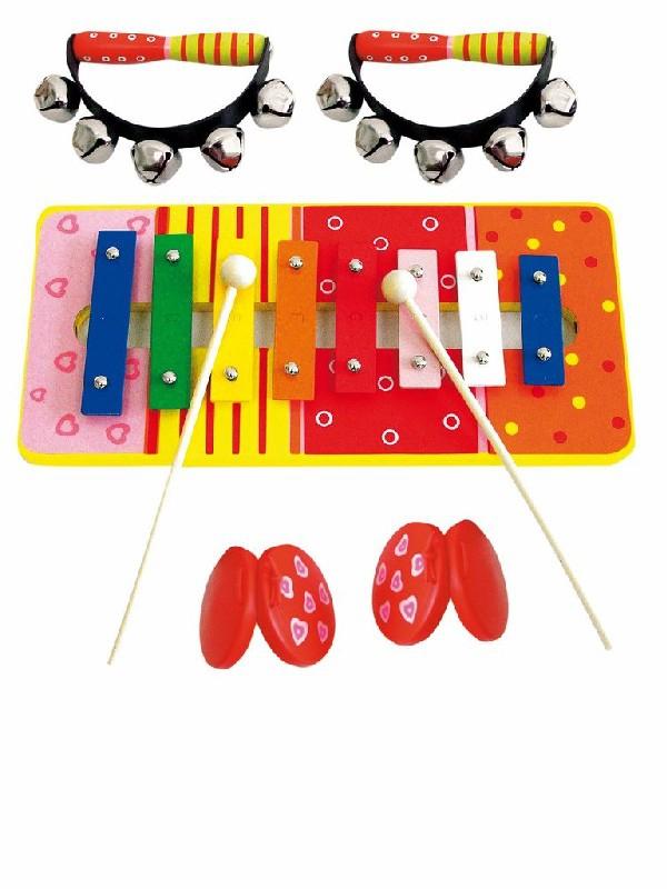 WOODY Музыкальный набор с ксилофоном - В наборе ксилофон, бубенцы и кастаньеты.