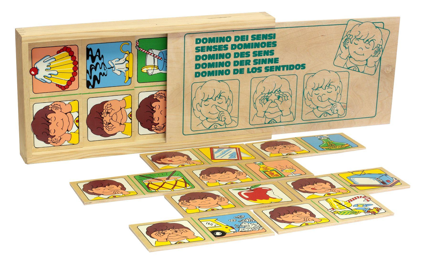 ЛЭМ. 1505 Домино чувств (дерево) - В ходе игры ребенок познакомится с органами чувств и наглядно, с помощью картинок запомнит для чего они используются.