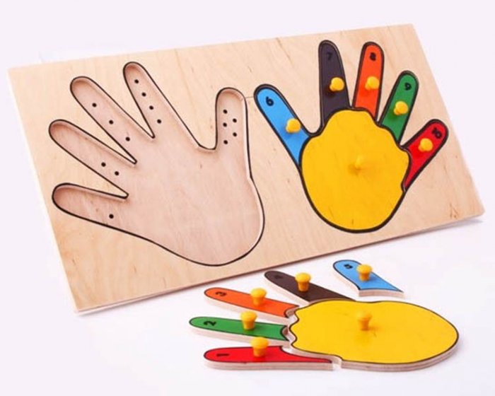 ЛЭМ.  Руки (пальцы) (дерево) - Габариты: 400 x 20 x 200 мм
