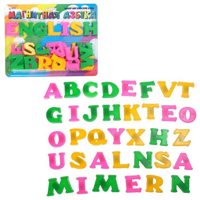 Эра. Магнитная английская азбука - Размер упаковки  21 см × 28 см × 3 см