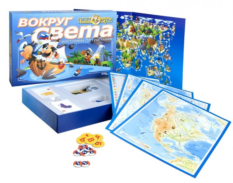 Степ.  Викторина  Вокруг света (76401) - Из этой игры дети узнают и усвоят основные географические термины, запомнят название океанов, морей, континентов, островов и животных их населяющих.