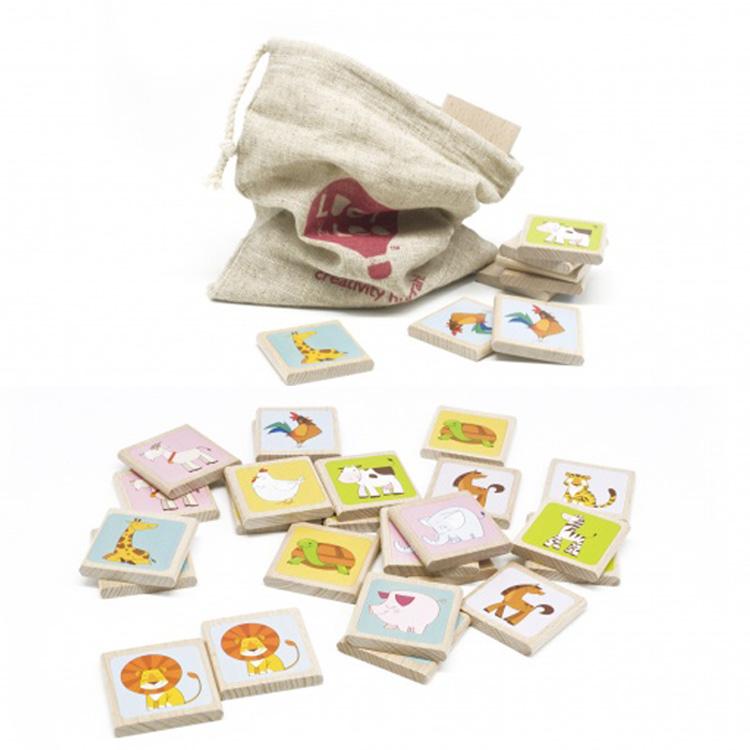 Мемо - Комплект: 12 игровых фишек, мешок для хранения.  Размер фишки: 5.5 x 5.5 x 1 см.