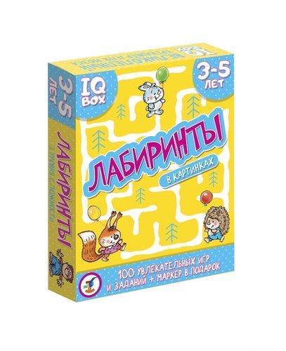 Дрофа. IQ Box. Лабиринты 3-5 лет арт.3566 - В наборе 100 оригинальных лабиринтов, которые прекрасно подойдут для самых маленьких любителей заданий-активити.