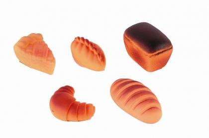 Огонек. Набор хлеба арт.С-852 - Игрушки из ПВХ. Высота игрушки, 6 см(в среднем)