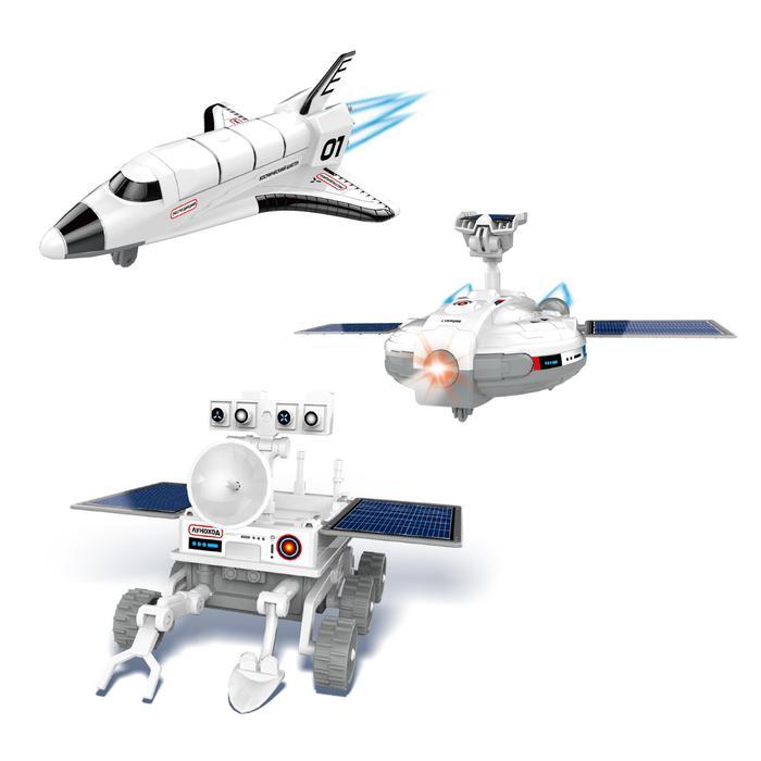 Эврики. Научные опыты «Экспедиция на Луну», 3 в 1 - С набором торговой марки «Эврики» ребёнок сконструирует космическую станцию, шаттл или луноход и приведёт модель в действие с помощью солнечной батареи.