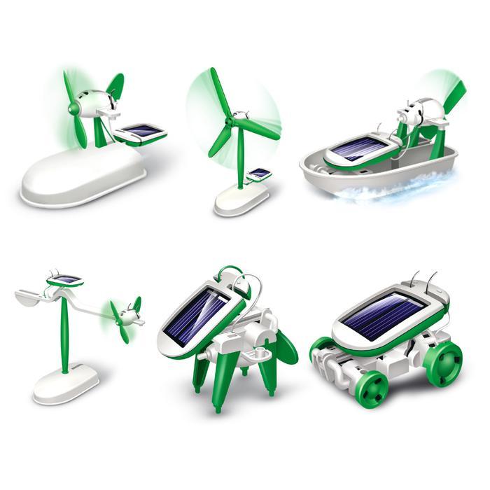 Эврики. Игровой набор «Солнцебот», 6 в 1 - работает от солнечной батареи