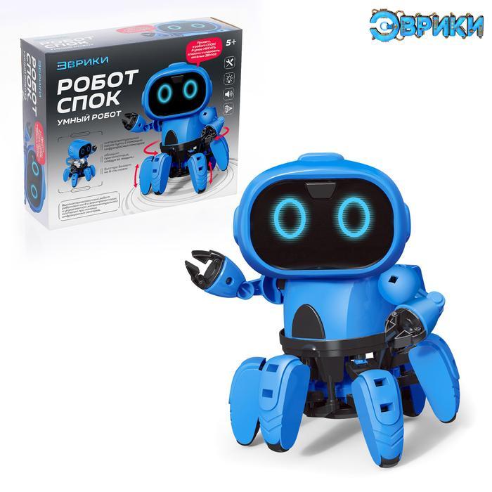 Эврики. Электронный конструктор «Робот Спок» - Электронный конструктор «Робот Спок» имеет 2 режима работы: следует за движением руки перед собой и ищет путь, обходя препятствия.  Чтобы собрать игрушку, необходимо внимательно прочитать инструкцию.