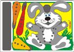 Шнуровка Зайка - Развитие моторики рук благотворно отзывается на развитии речи и исправлении ее дефектов у ребенка. Состав игры: заяц, морковка, шнурки.