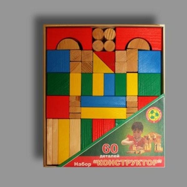 Престиж.Строительный набор 60 дет. арт.СЦ1301 - 24,5 x 20,5 x 4 см.