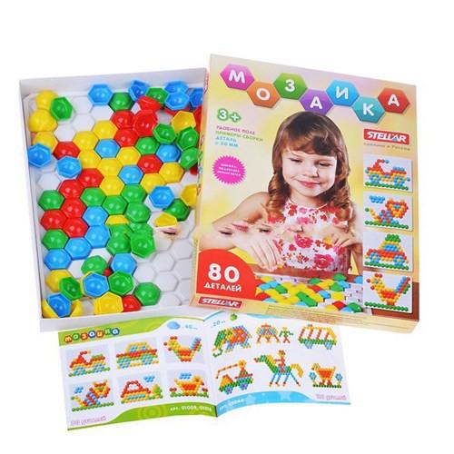 Стеллар. Мозаика арт.01068 (диаметр 30 мм/80 деталей), сферическ - Для детей от 3 лет. Развивает мелкую моторику, наблюдательность, внимание, мышление, фантазию.