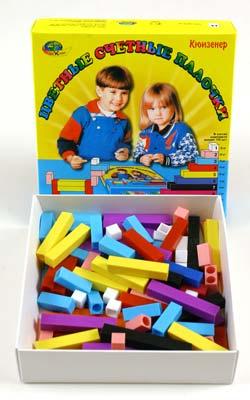 Счетные палочки Кюизенера - Цвет палочек и их величина, моделируя число, подводят детей к пониманию различных абстрактных понятий, возникающих в мышлении естественно как результат его самостоятельной практической деятельности.