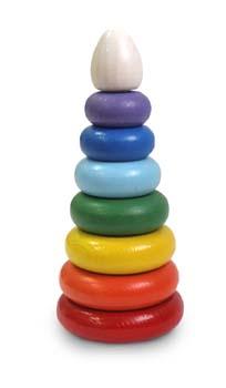 Пирамидка 8 (радуга) Томик - Пирамидка поможет Вашему ребенку понять определение