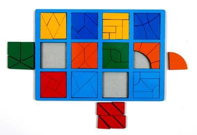 собери квадрат 3 уровень сложности класс стандарт - Детская развивающая игра