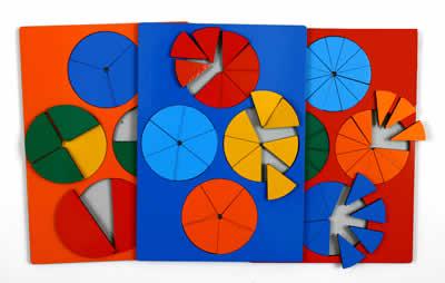 Дроби комплект класс стандарт - Детская развивающая игра