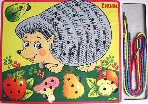 Шнуровка Ежик класс эконом - Детская развивающая игра