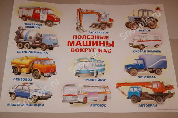 Плакат Полезные машины вокруг нас -