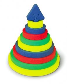 Пирамида Круг (Бомик) - Материал:ЭВА Развивает навыки:Логика