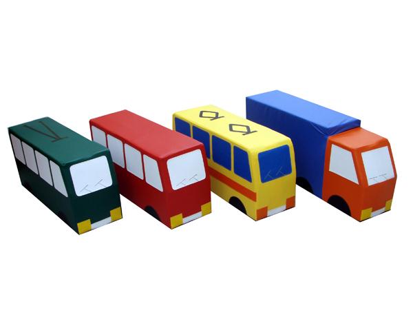 Машина (грузовик, автобус, троллейбус, трамвай в ассорт.) - ТОВАР ПОД ЗАКАЗ! СВЯЖИТЕСЬ С НАШИМ МЕНЕДЖЕРОМ - (4212)242-042 8-914-546-40-30  Машины могут использоваться в одиночных, сюжетно-ролевых играх, а также в групповых занятиях по обучению правилам дорожного движения   Мягкие игровые модули - Машина (грузо