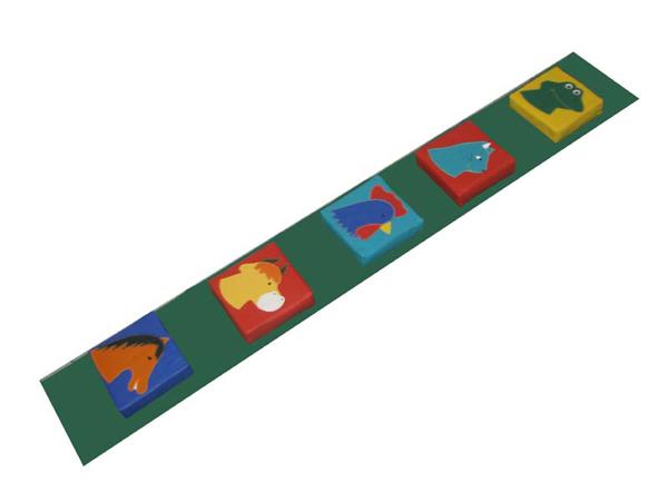 Мягкие игровые модули - Звуковая дорожка с животными(8ШТ) - ТОВАР ПОД ЗАКАЗ! СВЯЖИТЕСЬ С НАШИМ МЕНЕДЖЕРОМ - (4212)242-042 8-914-546-40-30 Развивающий модуль «Звуковая дорожка» представляет собой коврик, на котором расположены мягкие модули со встроенными звуками животных. Наступая на подушечки, ребенок слышит зву