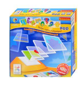 Игра логическая 'Цветовой код', Bondibon, Smart Games - Нужно сложить плитки таким образом, чтобы воспроизвести композицию из карточки с выбранным заданием. Игры Smart Games хорошо известны в Европе и США, они используются в американских школах в качестве обучающих пособий. Smart Games неоднократно получал на