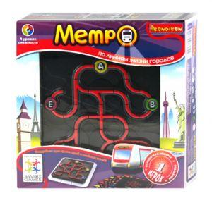 Игра логическая 'Метро. По линиям жизни городов', Bondibon, Smar - Логическая игра BONDIBON 'Метро. По линиям жизни городов' имеет 4 уровня сложности, 64 задания. Развивает логическое мышление, познавательные способности, зрительное и пространственное восприятие