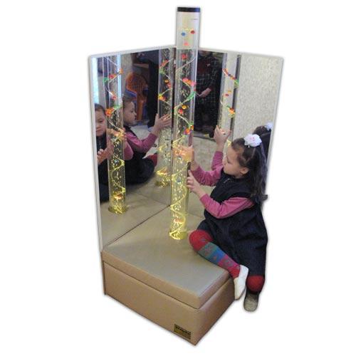 Детский зеркальный уголок с пузырьковой колонной - ПОД ЗАКАЗ! ЦЕНЫ МОГУТ ОТЛИЧАТЬСЯ, ЗАВИСИТ ОТ КОМПЛЕКТАЦИИ!