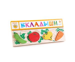 Доска-вкладыш «Овощи» (Томик) -
