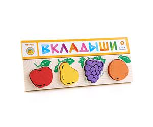 Доска-вкладыш «Фрукты-ягоды» (Томик) -
