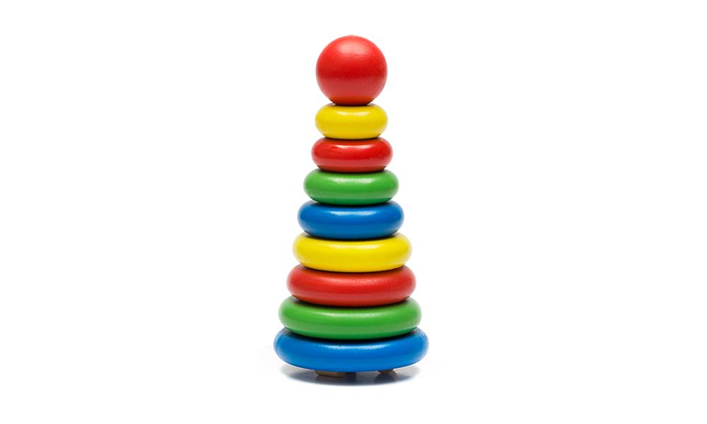 Пирамидка из 9 деталей (дерево) Томик -
