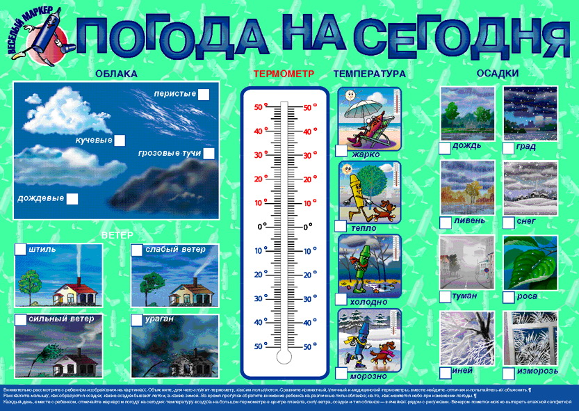 Плакат «Погода на сегодня» -