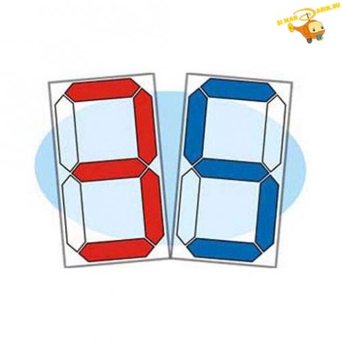 Воскобович. Прозрачная цифра - Предлагаем вашему вниманию замечательную развивающую игру. В состав игры входят:  - 24 прозрачных пластинки с элементами «электронной восьмерки» четырех основных цветов – синего, красного, желтого и зеленого;  - 10 картонных карточек-трафаретов с цифр