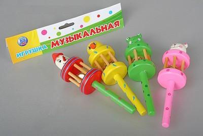 Погремушка с колокольчиком - Погремушка выполнена в виде забавного животного. Хорошо подходит в качестве первой музыкальной игрушки. Размер: 4x16x4 см