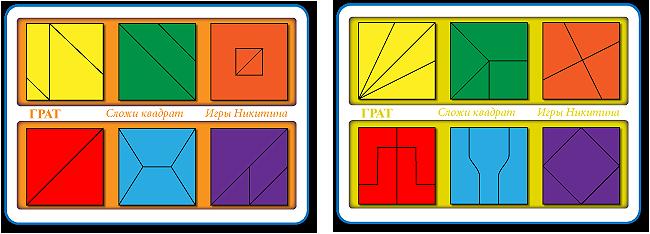 Сложи квадрат 2 уровень сложности - Размер планшетов: 205 × 145 мм. Материал: оклеенная цв.плёнкой фанера. Вес: 50 г.