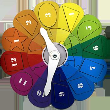 Часики Радуга - Размер: 230 × 230 мм. Материал: оклеенная плёнкой (цв.печать) фанера.