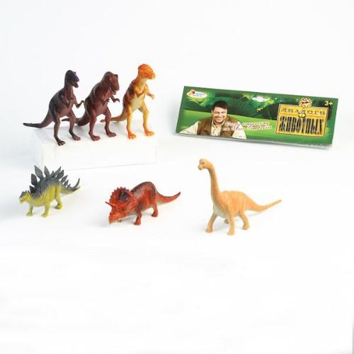 Набор  из 6-ти динозавров на блистере Играем вместе -
