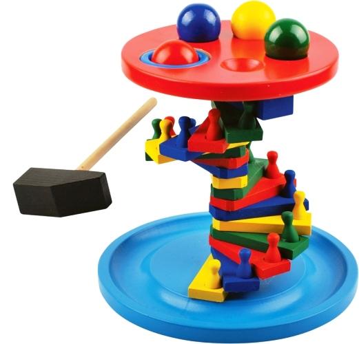 Стучалка-лесенка - Игрушка способствует развитию логики, моторики и творческих способностей ребенка. Изготовлено из экологически чистой древесины.