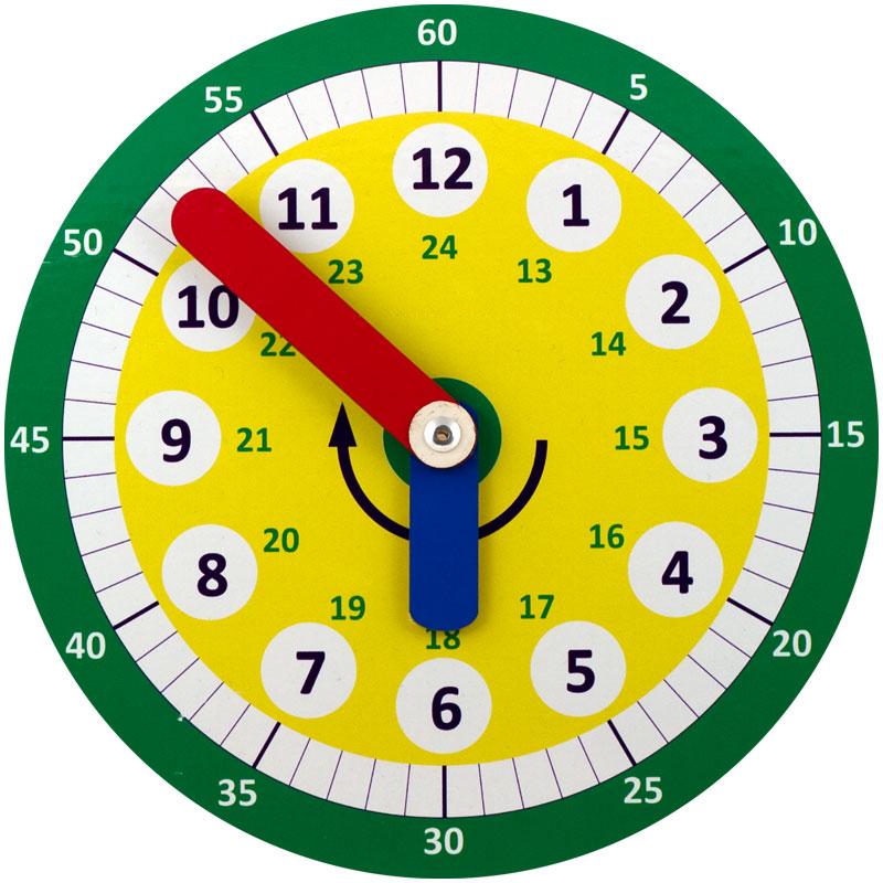 Часы Б.П.Никитина - Размер: 230 × 230 мм. Материал: оклеенная плёнкой (цв.печать) фанера.