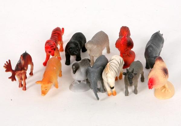 Набор животных 12 шт (6 диких и 6 домашних).  Играем вместе. - 5-6 см