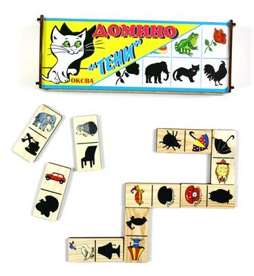 Домино Теней - Домино Теней учит ребенка соотносить реальное изображения предмета с его теневым в игровой форме